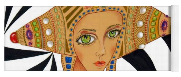 Empress Exotica -- Whimsical Exotic Woman Yoga Mat