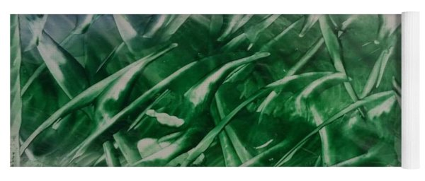 Encaustic Green Foliage With Some Blue Yoga Mat