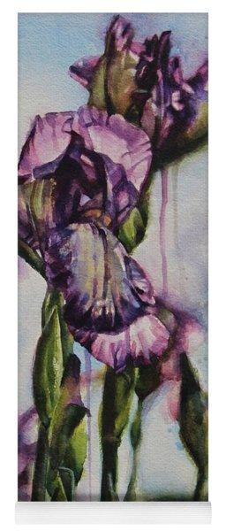 Enchanted Iris Garden Yoga Mat
