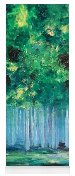 Enchanted Poplars Yoga Mat