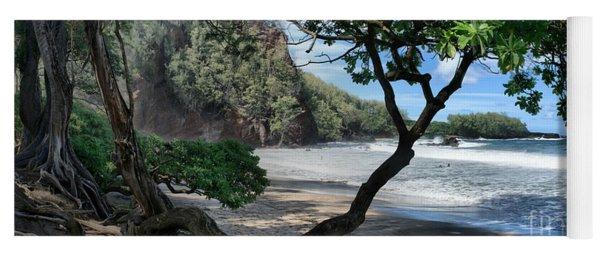 Enchanted Rocks Koki Beach Haneoo Hana Maui Hawaii Yoga Mat