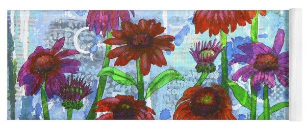 Enchanting Echinacea Yoga Mat
