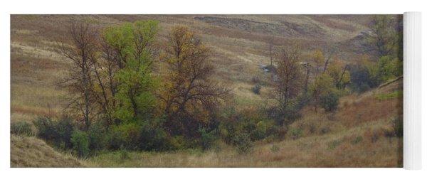 Enchantment Of The September Grasslands Yoga Mat