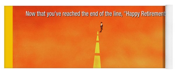 End Of The Line Greeting Card Yoga Mat