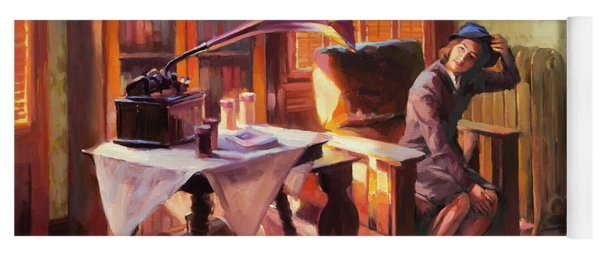 Yoga Mat featuring the painting Ending The Day On A Good Note by Steve Henderson