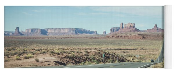 Endless Roads In Monument Valley Yoga Mat