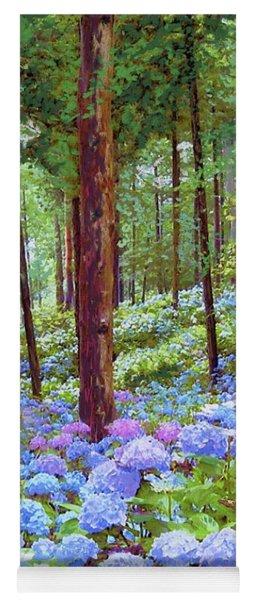 Endless Summer Blue Hydrangeas Yoga Mat