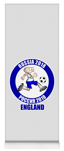 England In The Soccer World Cup Russia 2018 Yoga Mat
