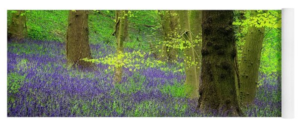 English Bluebell Wood In Spring Yoga Mat