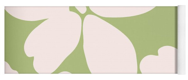 English Garden Floral Pattern Yoga Mat