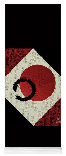Enso Circle With Kanji Potential Yoga Mat
