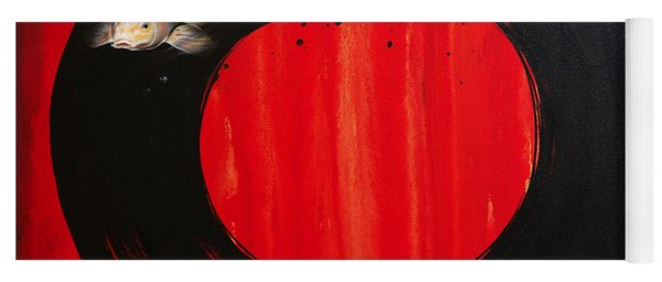 Enso With Koi Red And Gold Yoga Mat