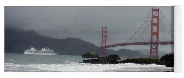 Entering The Golden Gate Yoga Mat