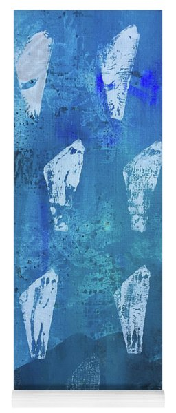 Yoga Mat featuring the painting Eolith II by Robin Maria Pedrero