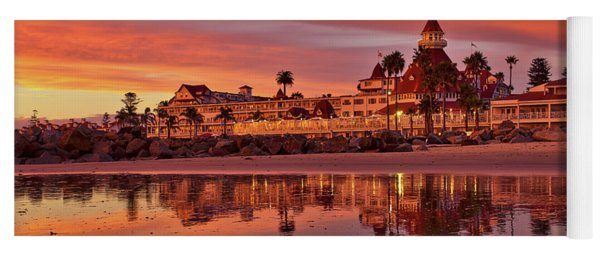 Epic Sunset At The Hotel Del Coronado Yoga Mat