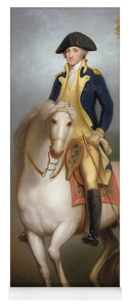 Equestrian Portrait Of George Washington Yoga Mat