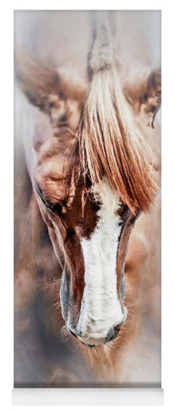 Equine Portrait Beautiful Thoroughbred Horse Head Yoga Mat
