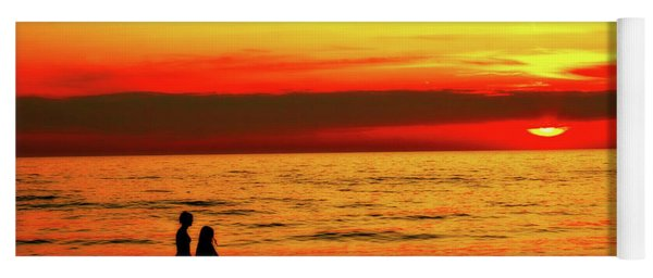 Erie Beach Sunset Yoga Mat