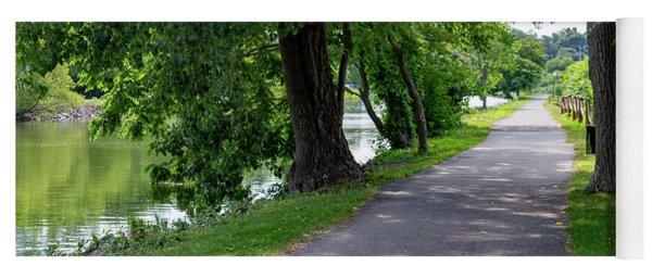 Erie Canal Bike Path Yoga Mat