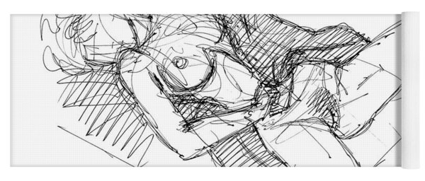Erotic Art Drawings 7 Yoga Mat