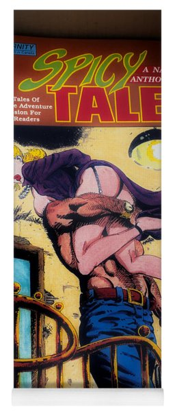 Erotica Spicy Tales A Naughty Anthology Book Cover Yoga Mat