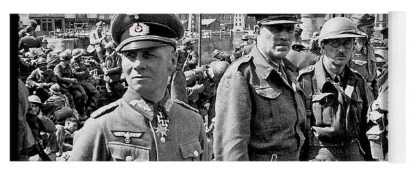 Erwin Rommel And Captured British Soldiers Tobruck Libya 1942 Color Added 2016  Yoga Mat