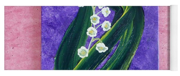 Escaping Winter Lilly Of The Valley Yoga Mat