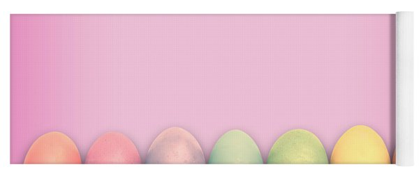 Easter Eggs, Pink Yoga Mat