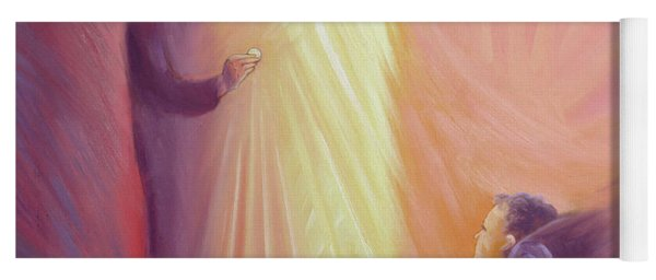 Jesus Christ Comes To Us In Holy Communion Yoga Mat