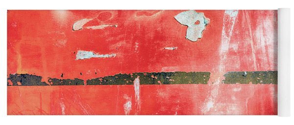 Etched Scratchings Of A Mad Red Monk Yoga Mat