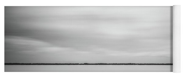 Yoga Mat featuring the photograph Ethereal Long Exposure Of A Pier In The Lake by Todd Aaron
