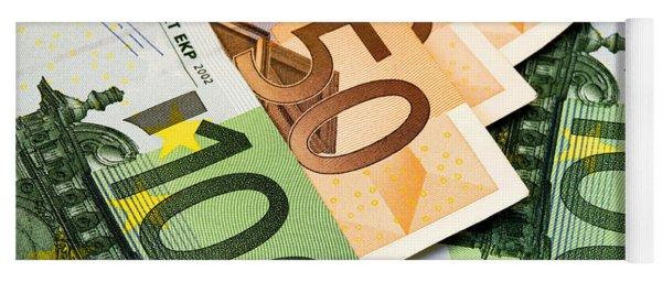 Euro Banknotes Yoga Mat