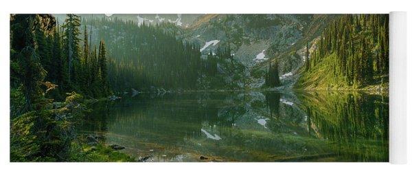 Eva Lake At Dawn Yoga Mat