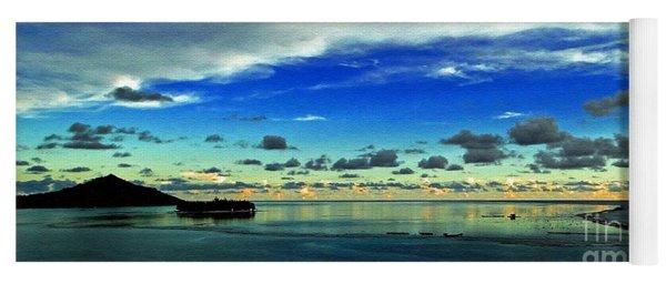 Evening In Paradise Panoramic Yoga Mat