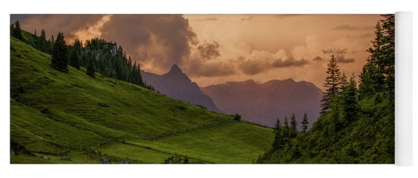 Evening In The Alps Yoga Mat