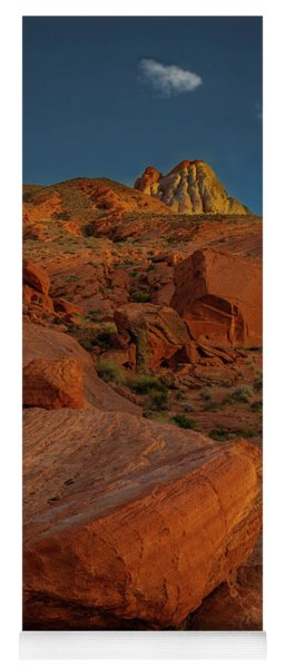 Evening In The Valley Of Fire Yoga Mat