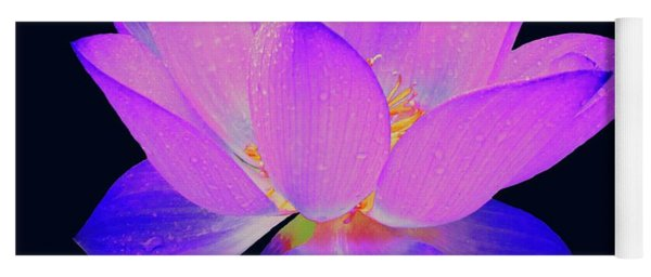 Yoga Mat featuring the painting Evening Purple Lotus  by David Dehner