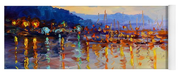 Evening Reflections In Piermont Dock Yoga Mat