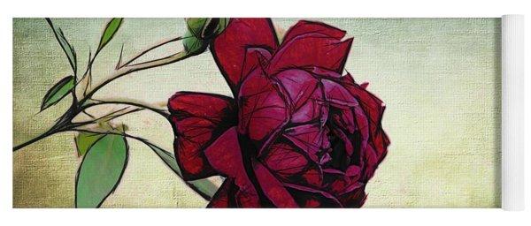Evening Rose Perfection Yoga Mat