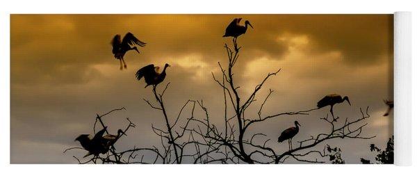Evening Storks Yoga Mat