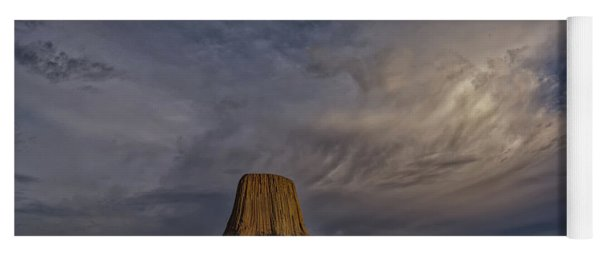 Evening Time At Devils Tower Yoga Mat