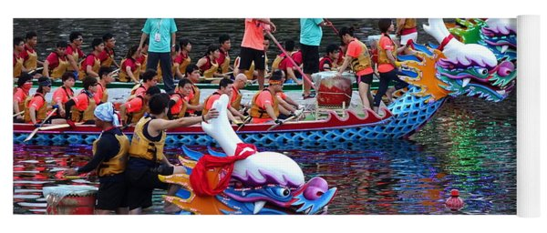 Evening Time Dragon Boat Races In Taiwan Yoga Mat