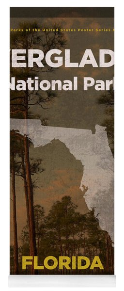 Everglades National Park In Florida Travel Poster Series Of National Parks Number 15 Yoga Mat