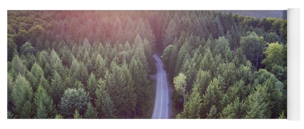 Evergreen Forest From Above Yoga Mat