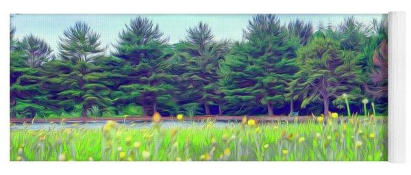Evergreen Lake - Impressionism Yoga Mat