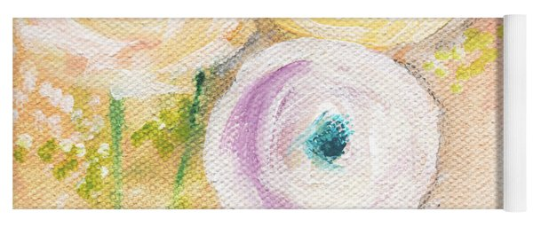 Everlasting- Expressionist Floral Painting Yoga Mat