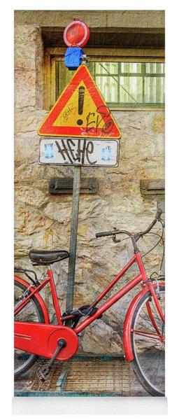 Exclamation Hot Bicycle Yoga Mat
