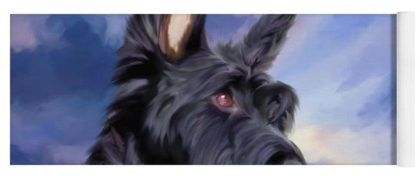 Expression Is Everything Scottish Terrier Dog Yoga Mat