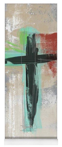 Expressionist Cross 3- Art By Linda Woods Yoga Mat