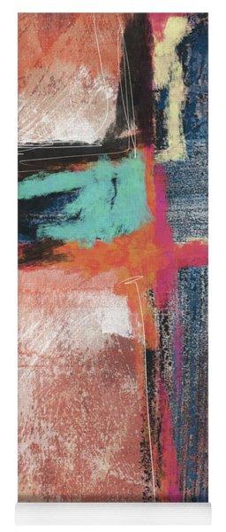 Expressionist Cross 5- Art By Linda Woods Yoga Mat